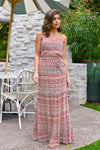 Vacay On My Mind Maxi Dress - Brick women's tribal print maxi, Closet Candy Boutique 1