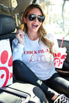 """Chick-Fil-A Diet"" Sweatshirt - White womens casual graphic long sleeve sweatshirt closet candy sitting 2"