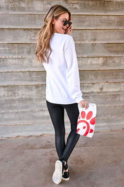 """Chick-Fil-A Diet"" Sweatshirt - White womens casual graphic long sleeve sweatshirt closet candy back"
