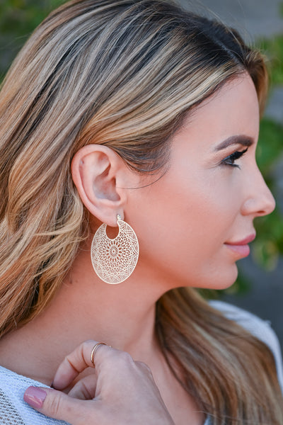 Somewhere Special Hoop Earrings - Ivory