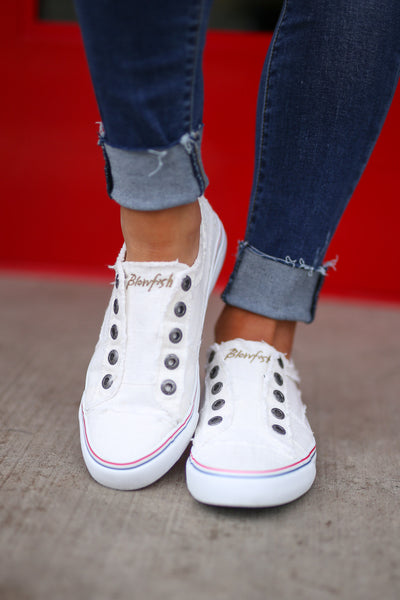 Wherever You Wander Sneakers - White canvas casual sneakers, front, Closet Candy Boutique 2