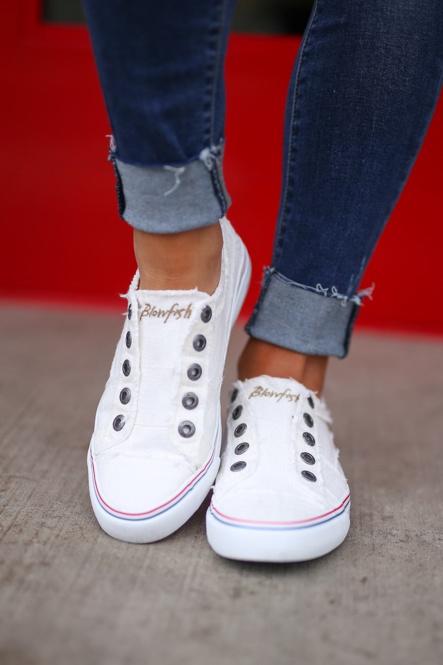 Wherever You Wander Sneakers - White canvas casual sneakers, side, Closet Candy Boutique 1