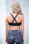 Work It Out Sports Bra - Black criss cross back sports bra, back view, Closet Candy Boutique