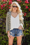 Know You Love Me Striped Cardigan - Olive & white striped women's kimono cardi, Closet Candy Boutique 3