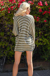 Know You Love Me Striped Cardigan - Olive & white striped women's kimono cardi, Closet Candy Boutique 5