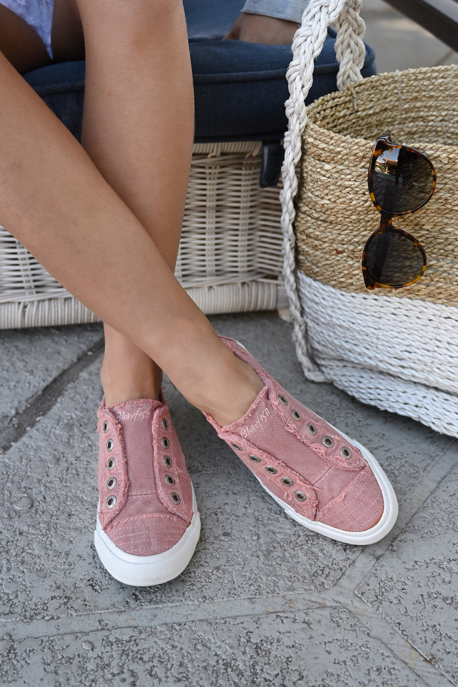 Wherever You Wander Sneakers - Rose casual sneakers, Closet Candy Boutique 2