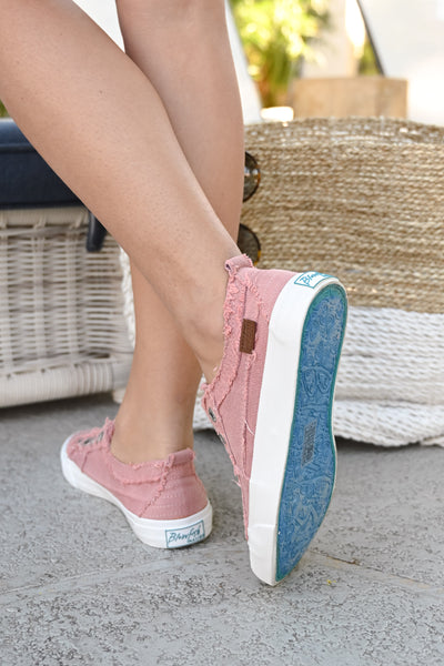 Wherever You Wander Sneakers - Rose casual sneakers, Closet Candy Boutique 3