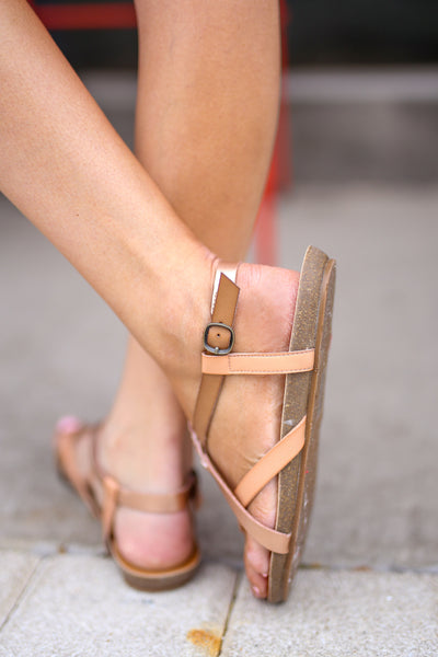 Nadia Strappy Sandals - Rose Gold women's summer shoes, Closet Candy Boutique 3
