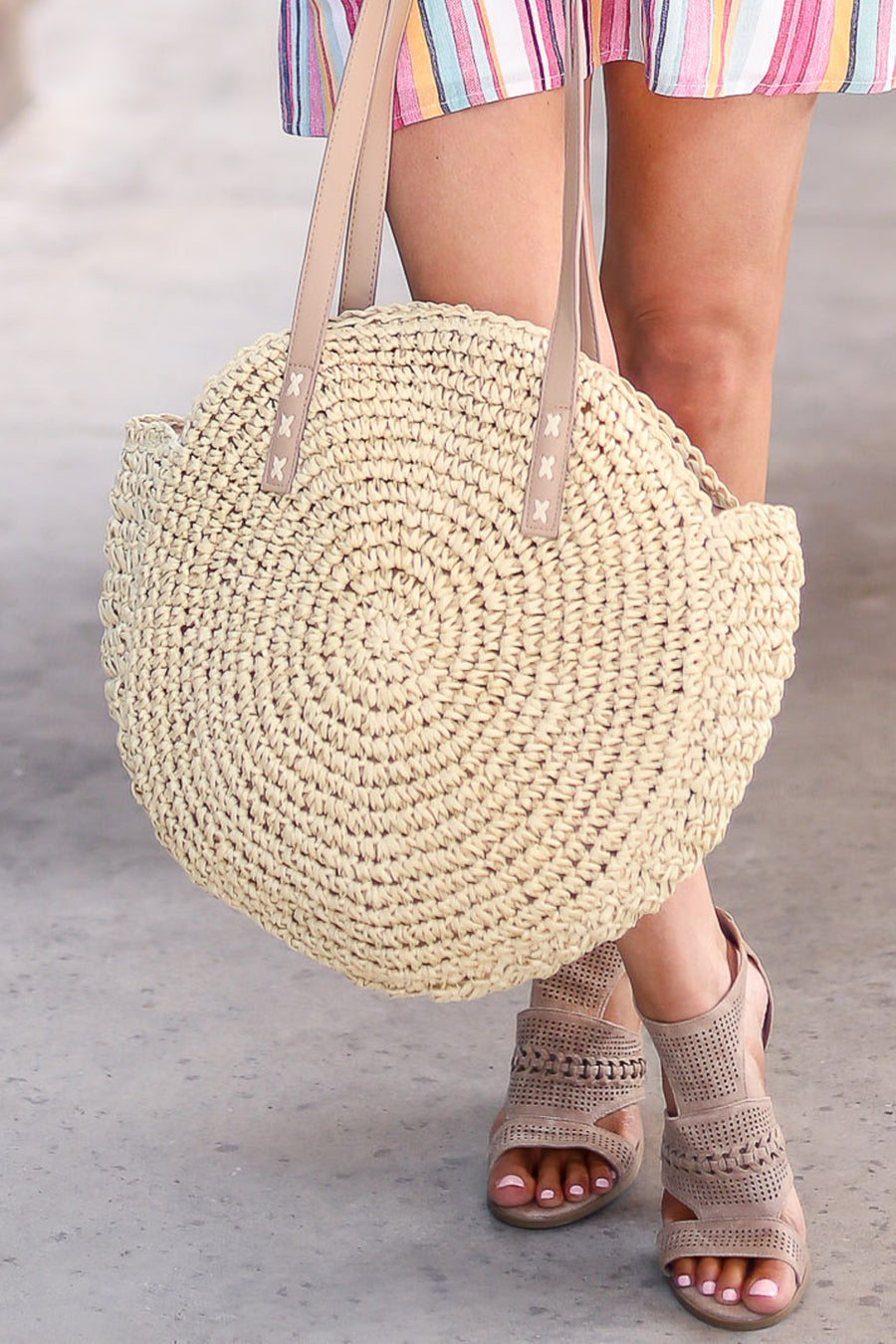Hello Lovely Straw Bag - Natural color women's straw purse, Closet Candy Boutique 1