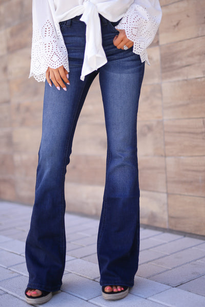 KAN CAN Bootcut Jeans - Charlotte Wash solid bootcut jeans, Closet Candy Boutique 4
