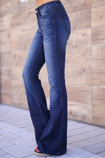 KAN CAN Bootcut Jeans - Charlotte Wash solid bootcut jeans, Closet Candy Boutique 2