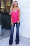KAN CAN Bootcut Jeans - Charlotte Wash solid bootcut jeans, Closet Candy Boutique 7