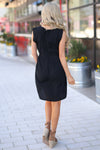Sweet Thing Dress - Black sleeveless dress, back, Closet Candy Boutique