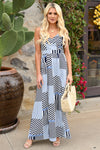 When In Doubt Maxi Dress - Navy women's striped long dress, Closet Candy Boutique 3