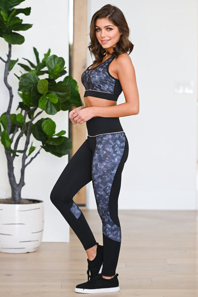 Squat Now, Wine Later Sports Bra - Black women's patterned athleisure set, Closet Candy Boutique 4