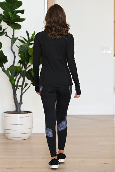Barre Then Brunch Athletic Jacket - Black women's activewear jacket with mesh, Closet Candy Boutique 3