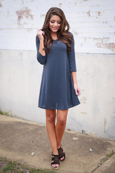 On Staycation Dress - Charcoal