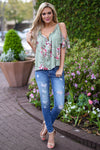 JUDY BLUE Distressed Skinny Jeans - Faded Wash distressed skinny jeans, outfit, Closet Candy Boutique 4