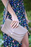 Two Can Make A Thing Go Right Crossbody Purse - Taupe vegan leather crossbody purse, Closet Candy Boutique