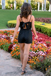 CCB Paradise Found Romper - Black womens trendy black romper with bow back closet candy back