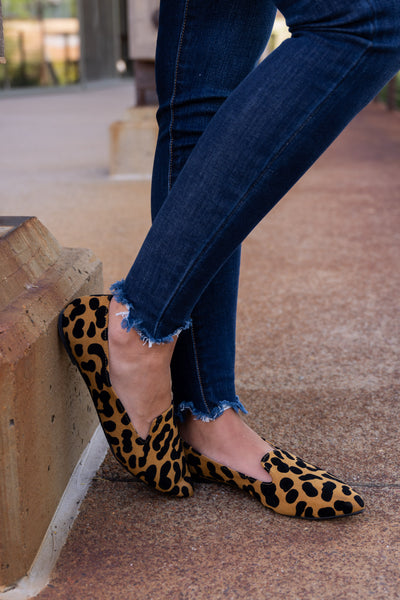 Here Kitty Kitty Leopard Flats women's pointed toe loafers, Closet Candy Boutique 2