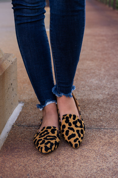 Here Kitty Kitty Leopard Flats women's pointed toe loafers, Closet Candy Boutique 3