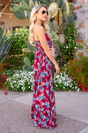Take My Breath Away Maxi Dress - Wine women's beautiful floral print long dress, Closet Candy Boutique 4