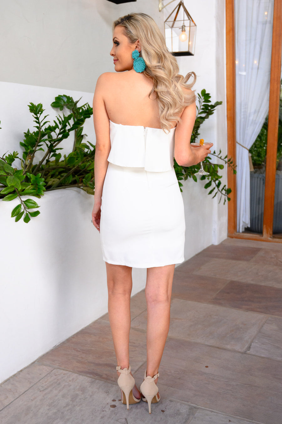 Secret Rendezvous Strapless Dress - White women's strapless party dress, Closet Candy Boutique 1