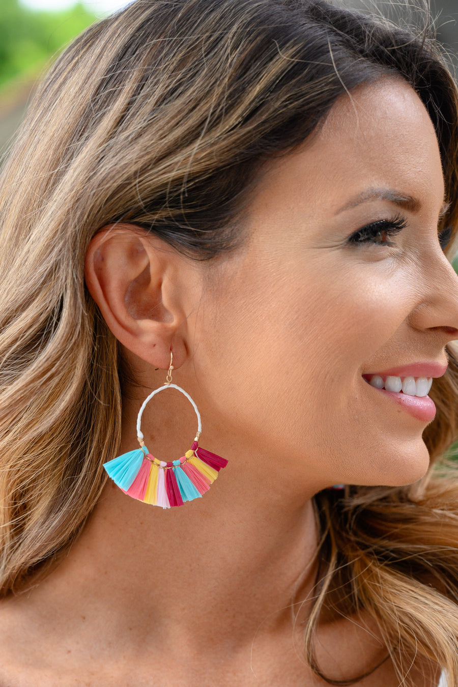 Your Biggest Fan Colorful Earrings women's multicolor hoop earrings, Closet Candy Boutique 1