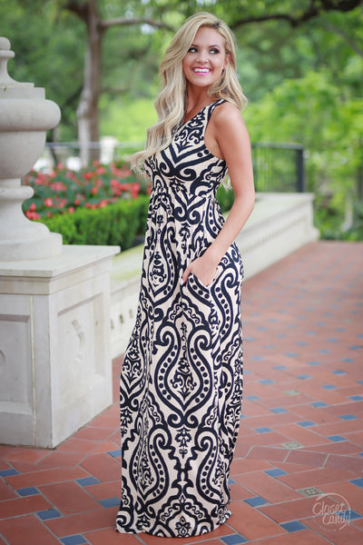 Can't Stop Me Now Maxi Dress - Damask