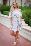 Coastal Charm Dress - Grey