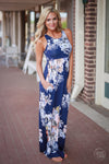 Garden Party Maxi Dress - Navy