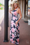Closet Candy Boutique - Garden Party Maxi Dress, pretty floral maxi dress for spring and summer, side view