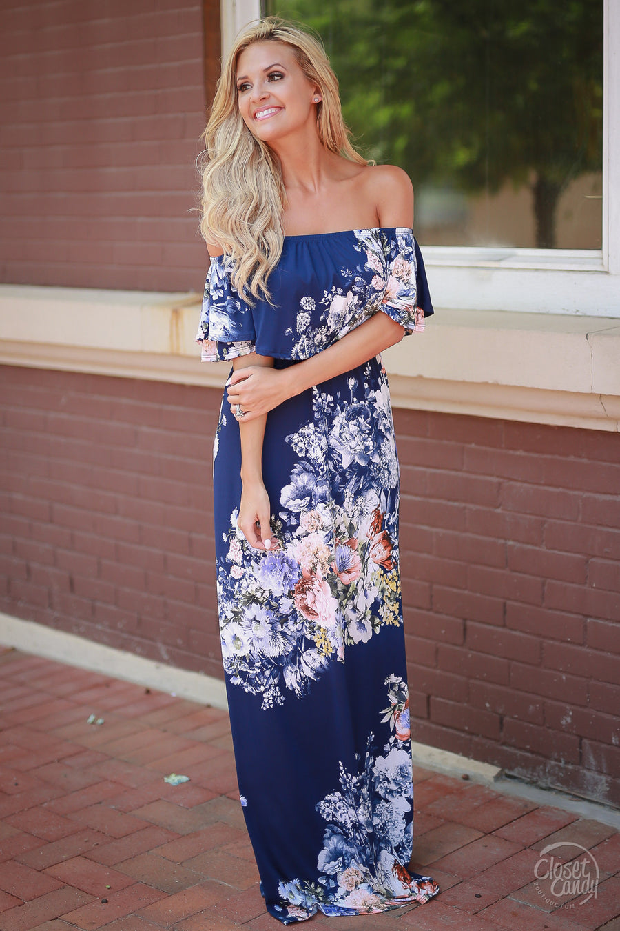 Country Club Maxi Dress - Navy