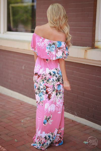 Country Club Maxi Dress - Pink