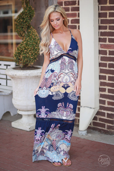 Closet Candy Boutique, trendy and cute women's clothing, cute maxi dress, spring dress, summer dress, front