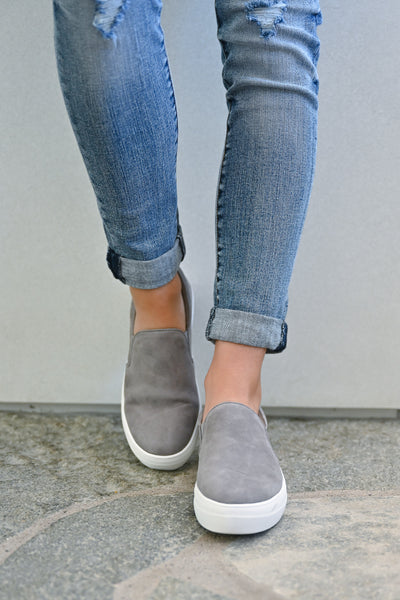 STEVE MADDEN Chris's Favorite Sneakers - Grey womens trendy shoes closet candy front