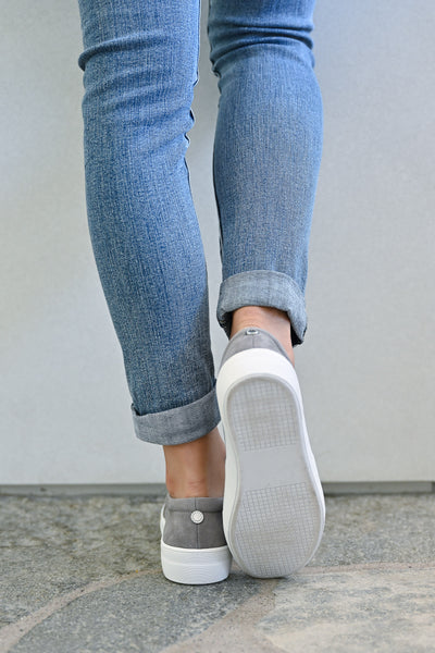 STEVE MADDEN Chris's Favorite Sneakers - Grey womens trendy shoes closet candy back