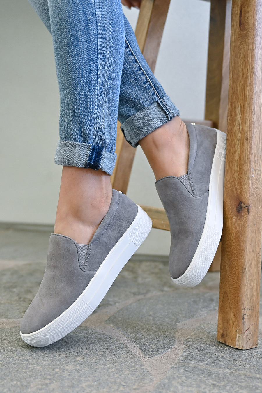 STEVE MADDEN Chris's Favorite Sneakers - Grey womens trendy shoes closet candy side