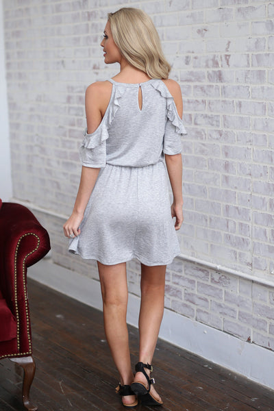 My Kind of Day Dress - Heather Grey