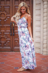 EVERLY Wisteria Lane Maxi Dress - Ivory