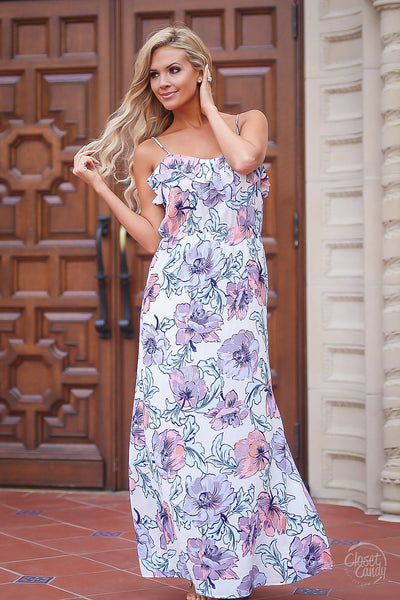 Closet Candy Boutique, floral maxi dress, women's clothing, vacation wear, outfit, spring outfit, summer dress, front