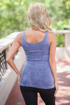 Thick Strap Seamless Tanks - Vintage Wash