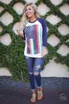 closet candy boutique trendy  flag shirt top fashion america