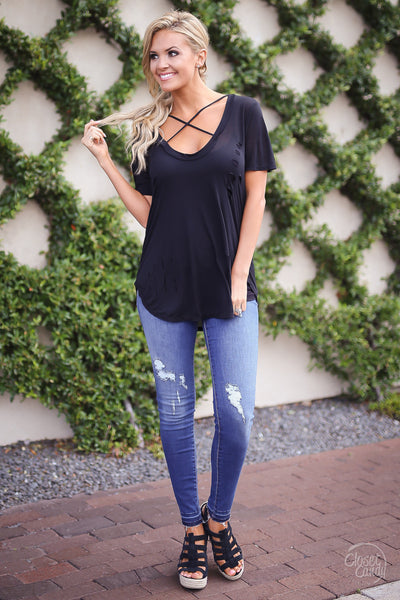 Under the Stars Top - Black