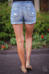 Fade Away Shorts - Medium Wash