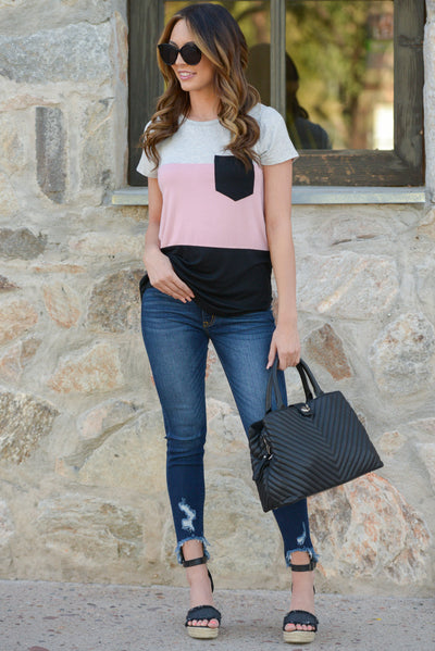 KAN CAN Distressed Skinny Jeans - Mallory Wash distressed skinny jeans, outfit, Closet Candy Boutique