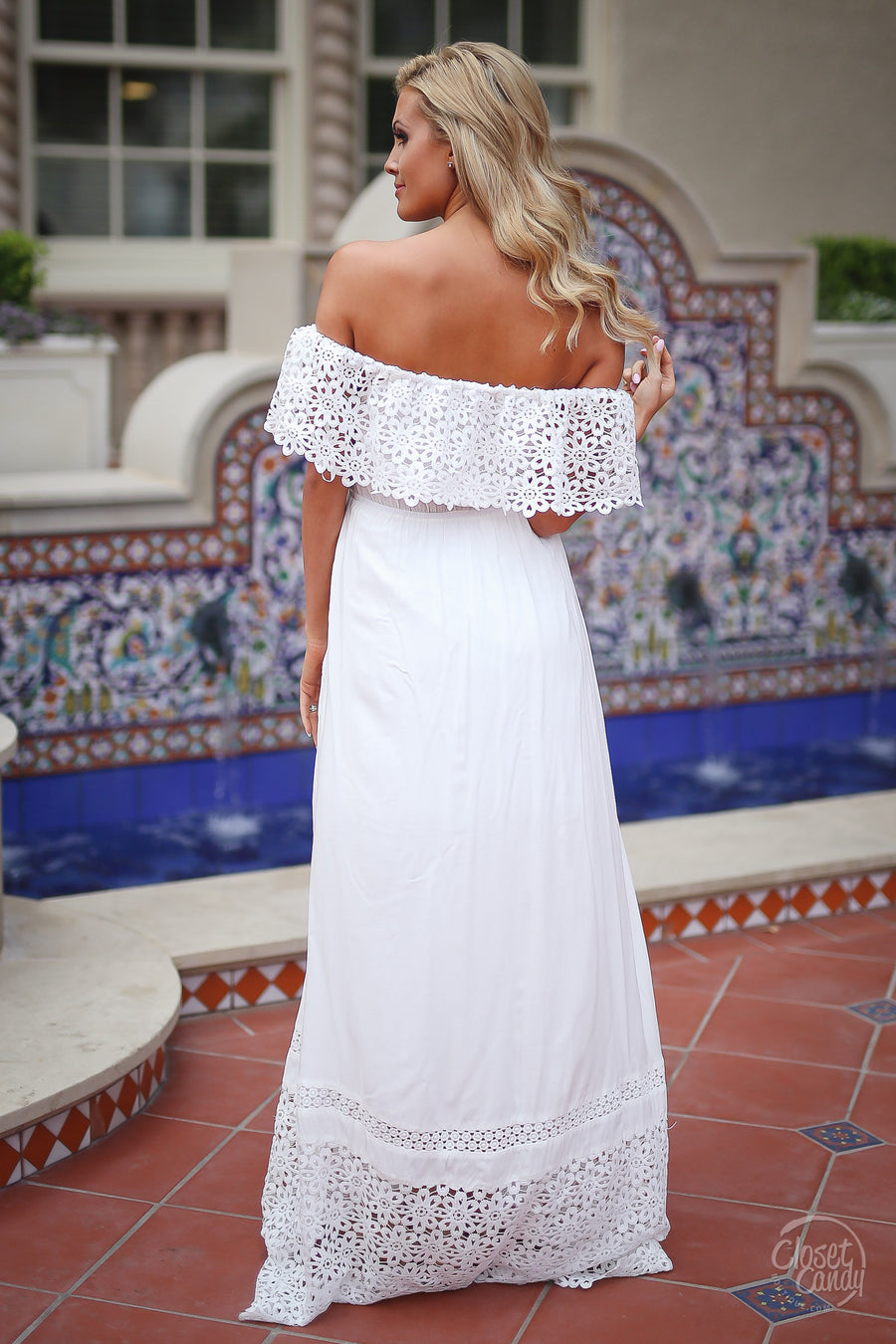 Dreaming in Daisies Maxi Dress - White