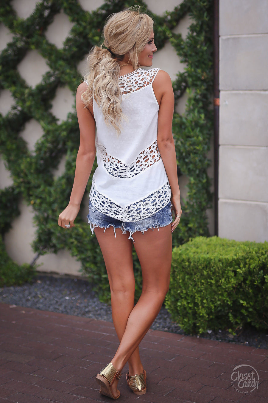 Day Date Top - White