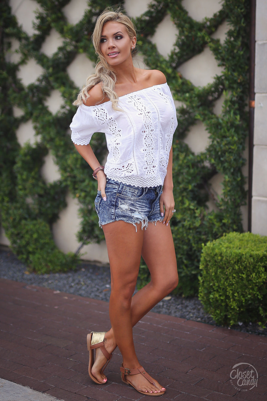 Golden Hour Top - White